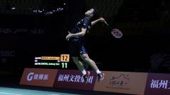 Indosport - Anthony Ginting kandaskan Jonatan christie di perdelapanfinal Fuzhou China Open 2018.