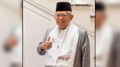 Indosport - KH. Ma'ruf Amin dukung Timnas Indonesia di Piala AFF 2018.