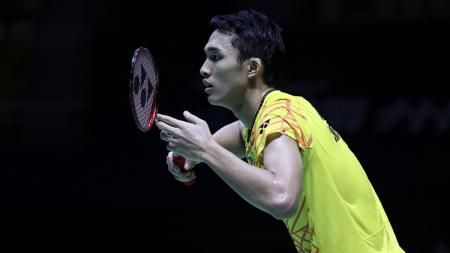 Jonatan Christie dikalahkan Anthony Ginting di Fuzhou China Open 2018 - INDOSPORT