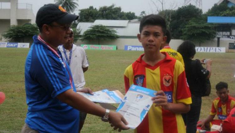 Pemain Persib U-19 Mohammed Kicko Maradona. Copyright: Twitter/@kickomaradona