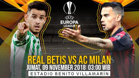 Link Live Streaming Pertandingan Liga Europa: Real Betis vs AC Milan. - INDOSPORT