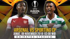 Indosport - Prediksi pertandingan Arsenal vs Sporting CP.
