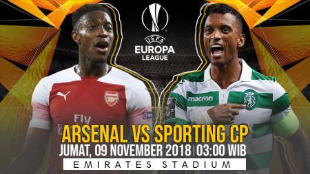 Prediksi pertandingan Arsenal vs Sporting CP. - INDOSPORT