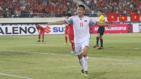 Selebrasi Pemain Timnas Vietnam dalam Piala AFF 2018. - INDOSPORT