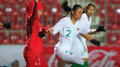 Indosport - Timnas Putri Indonesia vs Palestina di fase kualifikasi Olimpiade 2022.