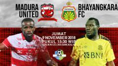 Indosport - Pertandingan Madura United vs Bhayangkara FC