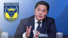 Indosport - Erick Thohir dan logo Oxford United