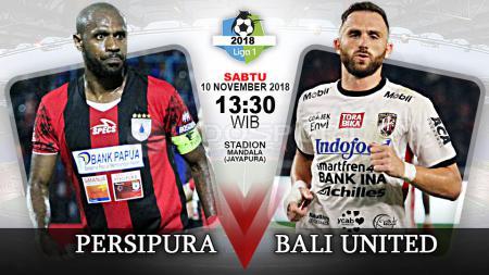 Pertandingan Persipura Jayapura vs Bali United. - INDOSPORT