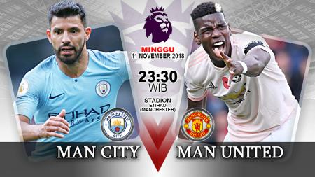 Pertandingan Manchester City vs Manchester United. - INDOSPORT