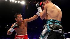 Indosport - Pertarungan Daud Yordan melawan Anthony Crolla di Manchester Arena.