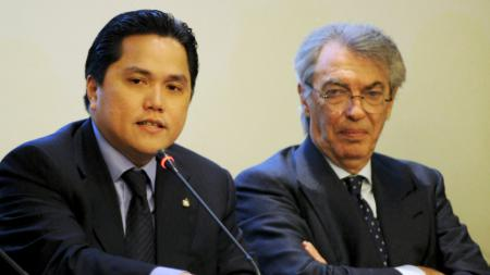 Erick Thohir (kiri) dan Massimo Moratti. - INDOSPORT