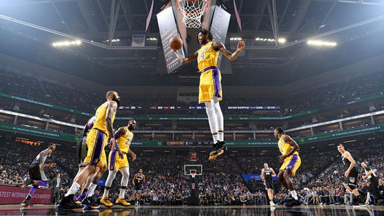 Pertandingan NBA LA Lakers vs Sacramento Kings. Copyright: INDOSPORT