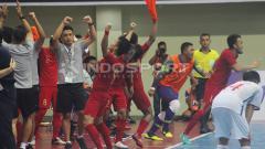 Indosport - Timnas Futsal Indonesia berhasil mengalahkan Chinese Taipei dengan skor 7-0 pada pertandingan pertama Kejuaraan Futsal 2019 di GOR Universitas Negeri Yogyakarta, Jumat (06/09/19).