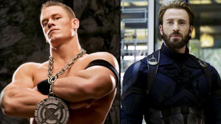 John Cena dan Captain America - INDOSPORT
