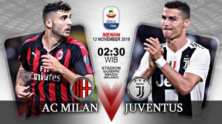 Pertandingan AC Milan vs Juventus. - INDOSPORT