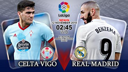 Pertandingan Celta Vigo vs Real Madrid. - INDOSPORT