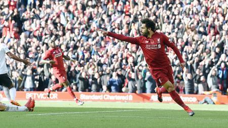 Mohamed Salah, striker Liverpool. - INDOSPORT