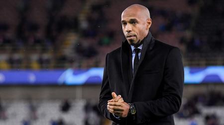 Thierry Henry, Pelatih AS Monaco. - INDOSPORT