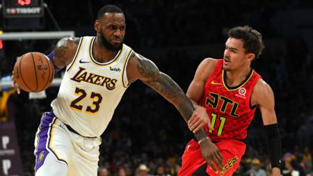 LeBron James dan Trae Young di Atlanta Hawks vs Los Angeles Lakers - INDOSPORT