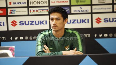 Gavin Kwan Adsit saat konfrensi pers jelang pertandingan antara Indonesia vs Timor Leste. - INDOSPORT
