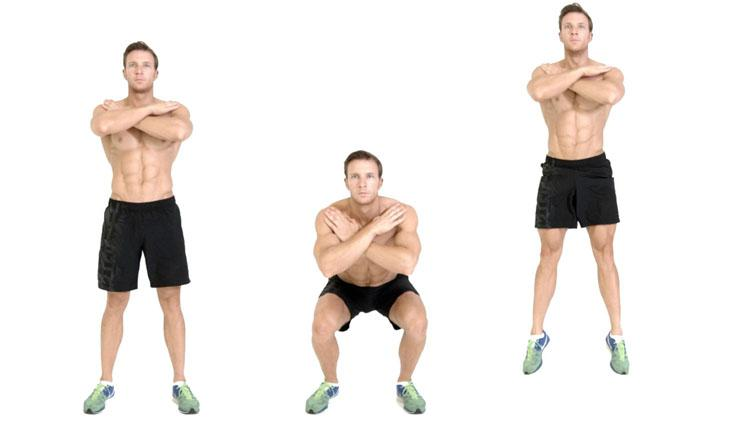 Gerakkan Jump Squat. Copyright: Mens Health