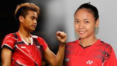 Indosport - Tontowi Ahmad dan Della Destiara Haris.