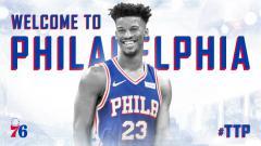 Indosport - Jimmy Butler, pebasket baru Philadelphia 76ers.