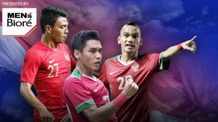Pemain Timnas Indonesia Dedik Setiawan, Riko Simanjuntak, Septian David Maulana. - INDOSPORT