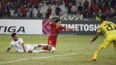 Indosport - Andik Vermansah saat melawan Timor Leste.