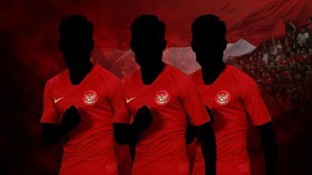 Ilustrasi tiga pemain 'veteran' yang akan tampil kembali di Timnas Indonesia. - INDOSPORT