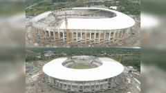 Indosport - Tampak atas Stadion Papua Bangkit dari udara
