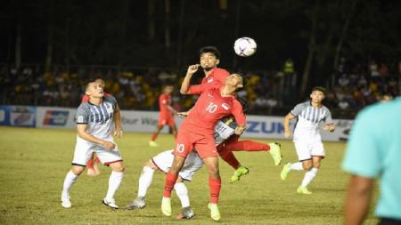 Timnas Filipina vs Timnas Singapura di Piala AFF 2018. - INDOSPORT