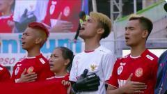 Indosport - Skuat Timnas Indonesia emosional saat menyanyikan lagu Indonesia Raya