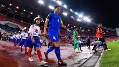 Indosport - Kapten Timnas Thailand, Chalermpong Kerdkaew di Piala AFF 2018.