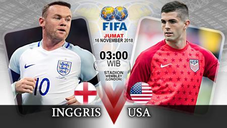 Pertandingan Inggris vs Amerika Serikat. - INDOSPORT