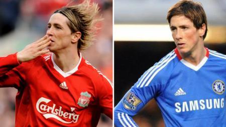 Fernando Torres saat masih bermain untuk Liverpool dan Chelsea. - INDOSPORT