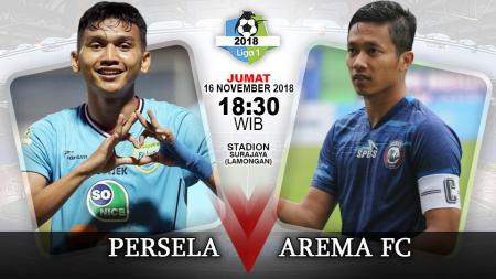 Pertandingan Persela Lamongan vs Arema FC. - INDOSPORT