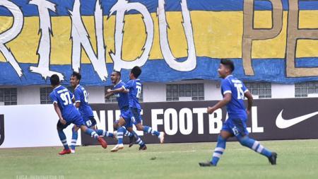 Pertandingan Persib Bandung U-19 vs Borneo FC U-19 di Liga 1 U-19 2018. - INDOSPORT