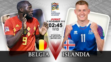 Pertandingan Belgia vs Islandia. - INDOSPORT
