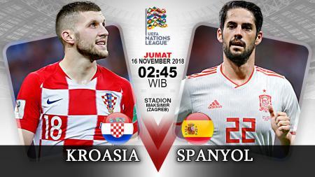 Pertandingan Kroasia vs Spanyol. - INDOSPORT