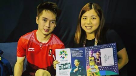 Pemain putri Macau, Ng Weng Chi, yang ngefans berat dengan Kevin Sanjaya. - INDOSPORT
