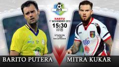 Indosport - Pertandingan Barito Putera vs Mitra Kukar.