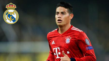 James Rodriguez segera kembali ke Real Madrid. - INDOSPORT