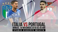 Indosport - Prediksi pertandingan Italia vs Portugal