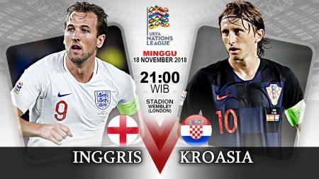 Pertandingan Inggris vs Kroasia. - INDOSPORT