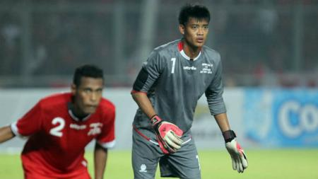 Mantan kiper Timnas Indonesia Kurnia Meiga Hermansyah. - INDOSPORT