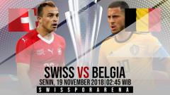 Indosport - Link Live Streaming Pertandingan UEFA Nations League: Swiss vs Belgia.