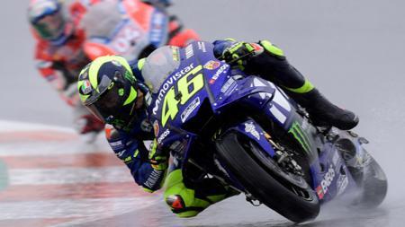 Valentino Rossi pada MotoGP Valencia 2018. - INDOSPORT