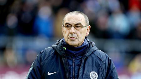 Maurizio Sarri, pelatih Chelsea. - INDOSPORT