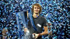 Indosport - Alexander Zverev memenangkan gelar ATP World Tour Finals 2018.
